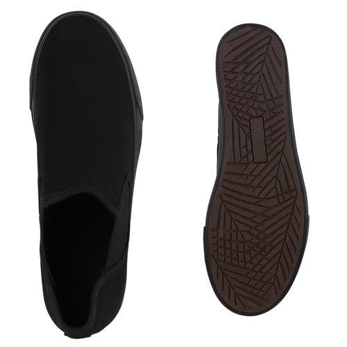 Damen Plateau Sneaker - Schwarz Basic