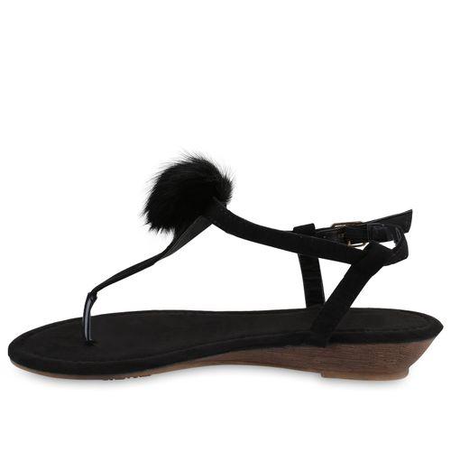 Sandaletten Damen Damen Keilsandaletten Sandaletten Schwarz Keilsandaletten 76qxpx