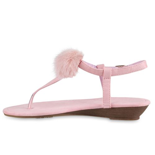 Billig Damen Schuhe Damen Sandaletten in Rosa 8161183369