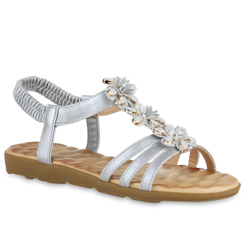 Damen Sandalen Riemchensandalen - Silber