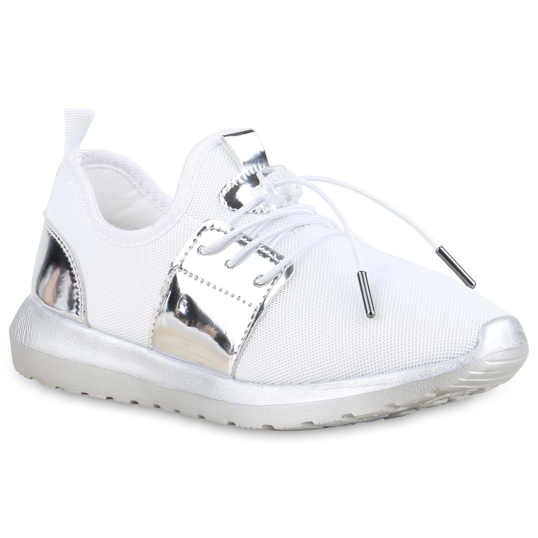 Damen Sportschuhe Laufschuhe - Weiß Silber