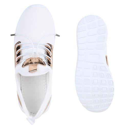 Damen Sportschuhe Laufschuhe - Weiß Rose Gold