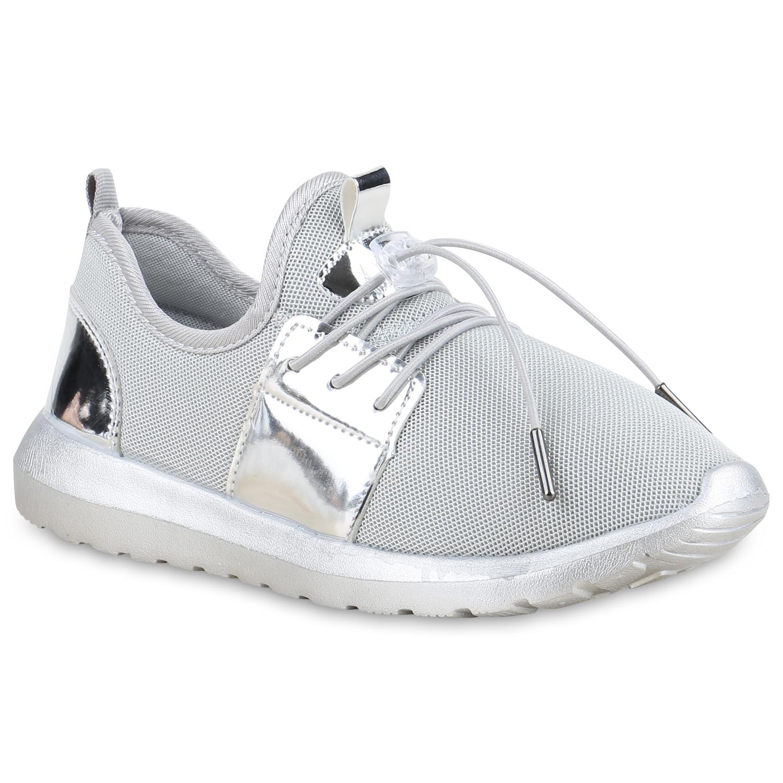 Sportschuhe - Damen Sportschuhe Laufschuhe Grau Silber › stiefelparadies.de  - Onlineshop Stiefelparadies