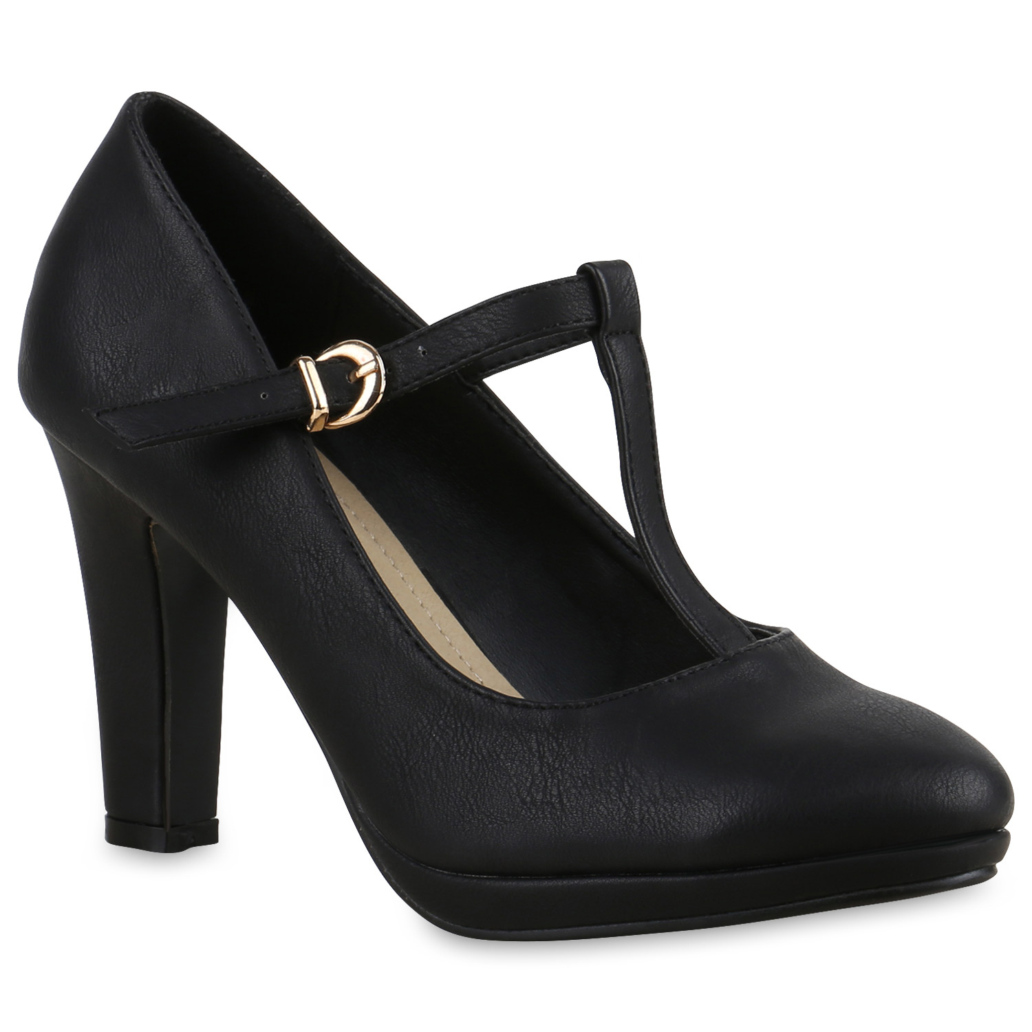Pumps für Frauen - Damen Pumps Mary Janes Schwarz  - Onlineshop Stiefelparadies