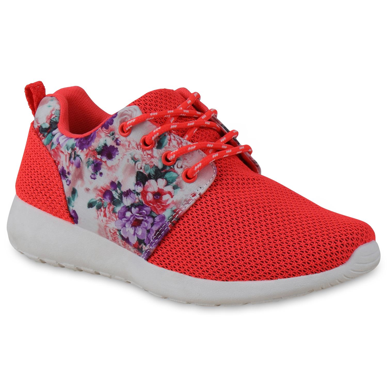 Damen Sportschuhe Laufschuhe - Neon Rot Muster