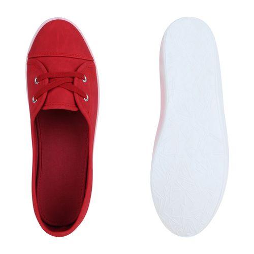 Damen Sportliche Ballerinas - Rot