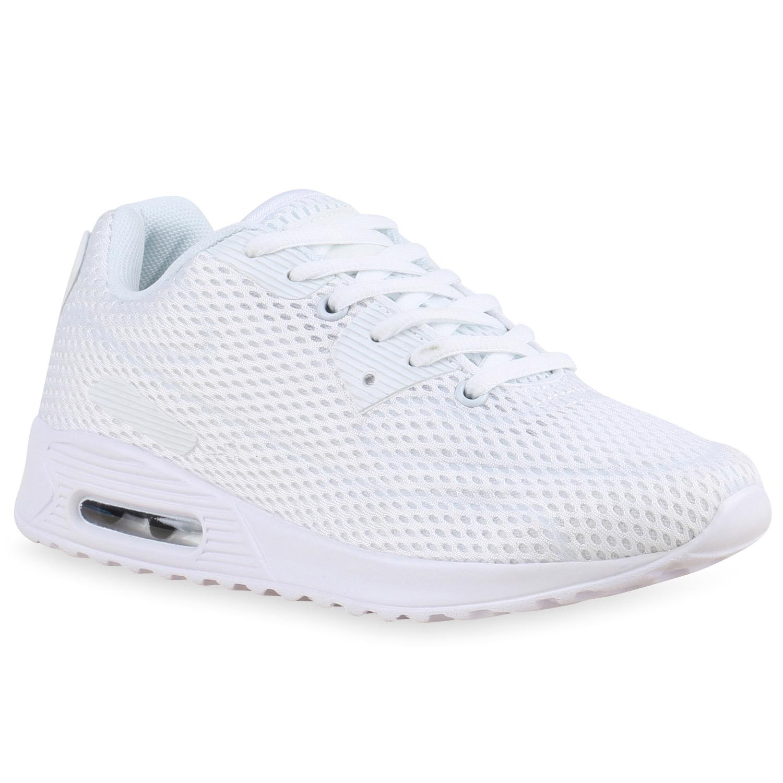 Sportschuhe für Frauen - Damen Sportschuhe Laufschuhe Weiß  - Onlineshop Stiefelparadies