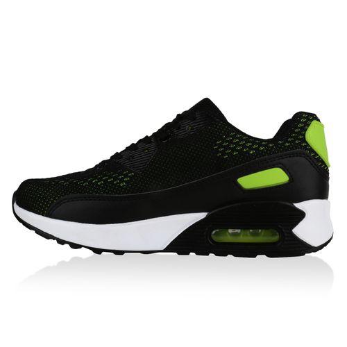 Damen Sportschuhe Laufschuhe - Schwarz Neon Grün