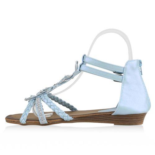 Sandaletten Damen Hellblau Damen Sandaletten Keilsandaletten fBU48q