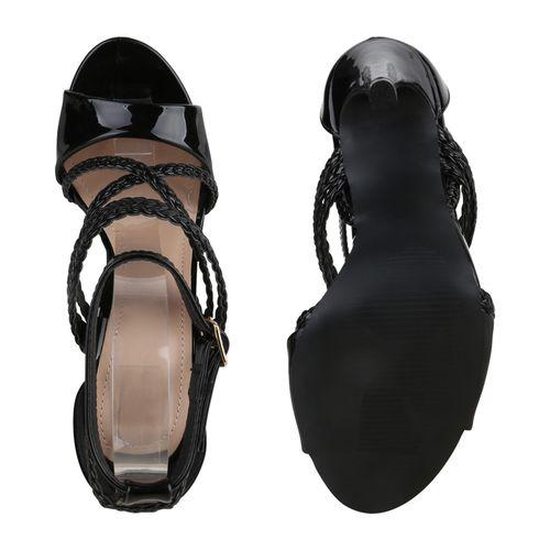 Heels Schwarz Heels Damen Sandaletten High Heels High Sandaletten Damen Damen Sandaletten Schwarz Damen High Schwarz wOAq4S