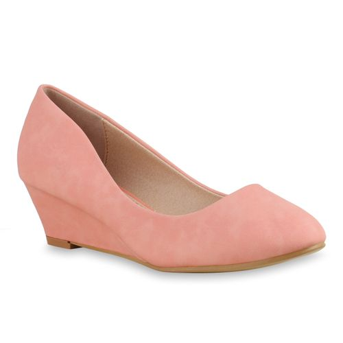 Damen Pumps Keilpumps - Apricot