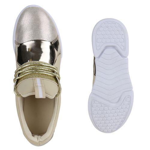 Damen Sportschuhe Laufschuhe - Gold
