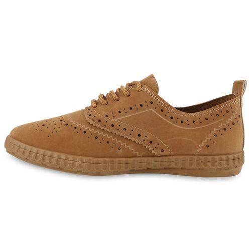 Damen Low Damen Sneaker Hellbraun Sneaker qdBwx8