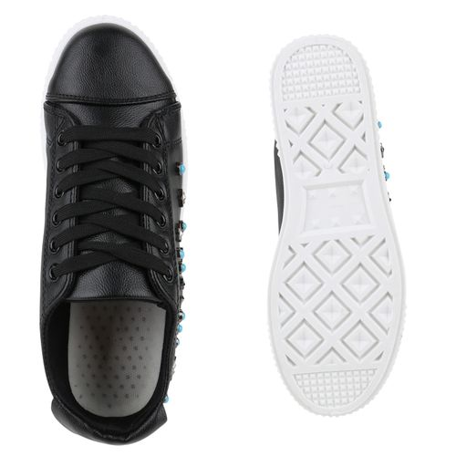 Sneaker Schwarz Damen Plateau Damen Plateau t4Sxfwwqg8