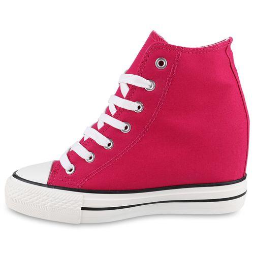 Damen Sneaker Wedges - Pink