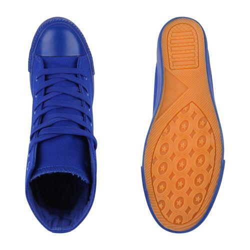 Damen Sneaker Wedges - Blau