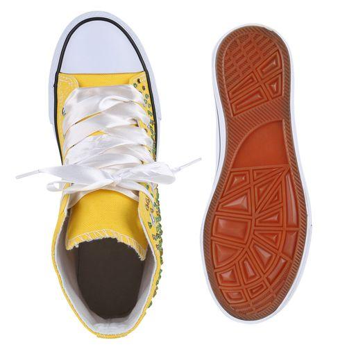 Damen Sneaker Sneaker Gelb High Damen qfw0P