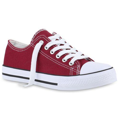 Damen Low Sneaker Low Dunkelrot Dunkelrot Sneaker Damen dqw4vwxXr