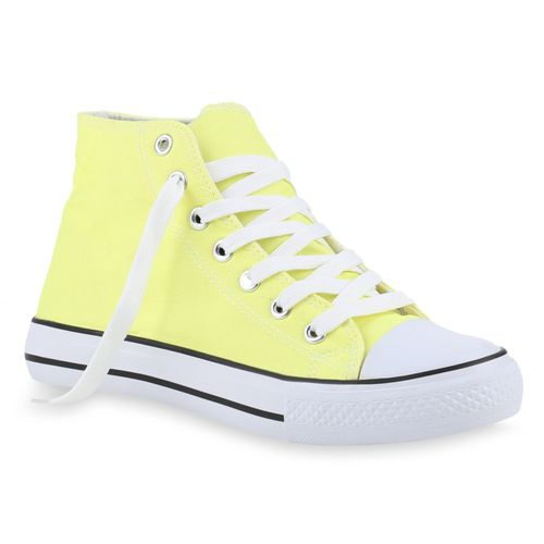 Damen Sneaker high - Hellgelb