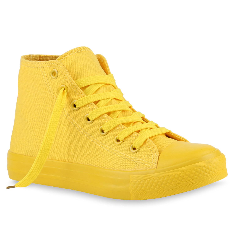 Damen Sneaker high Gelb