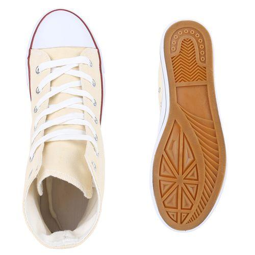 Herren Sneaker high - Creme
