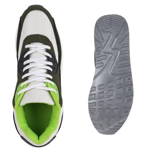 Herren Sportschuhe Laufschuhe - Weiß Grün