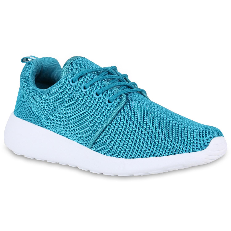 Sportschuhe für Frauen - Damen Sportschuhe Laufschuhe Türkis  - Onlineshop Stiefelparadies