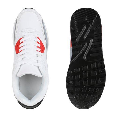 Damen Sportschuhe Laufschuhe - Weiß Hellgrau Rot