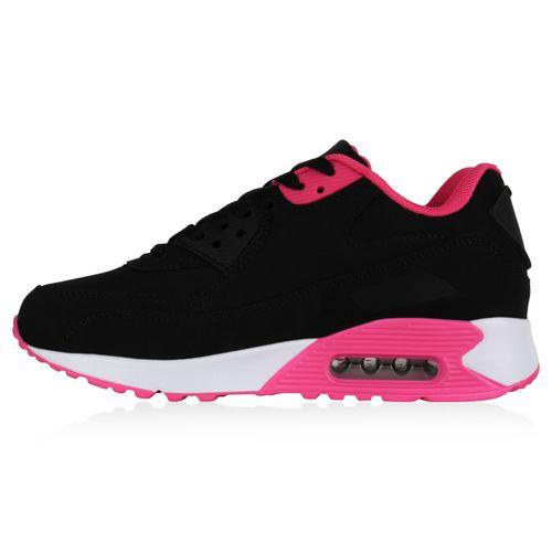 Damen Sportschuhe Laufschuhe - Schwarz Neon Pink