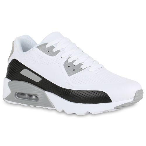 Herren Sportschuhe Laufschuhe - Weiß Grau Schwarz