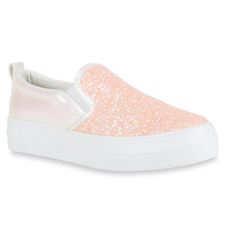 Weiß Sneaker Damen Ons Rosa Slip Yybfg76