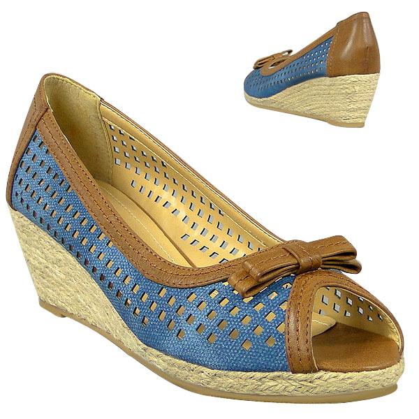 Damen Pumps - Blau