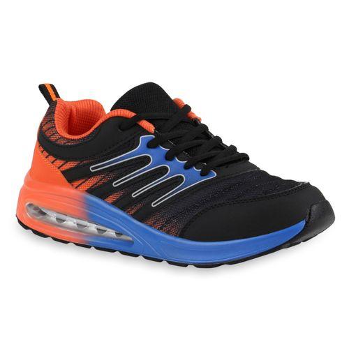 Damen Sportschuhe Laufschuhe Schwarz Blau Orange