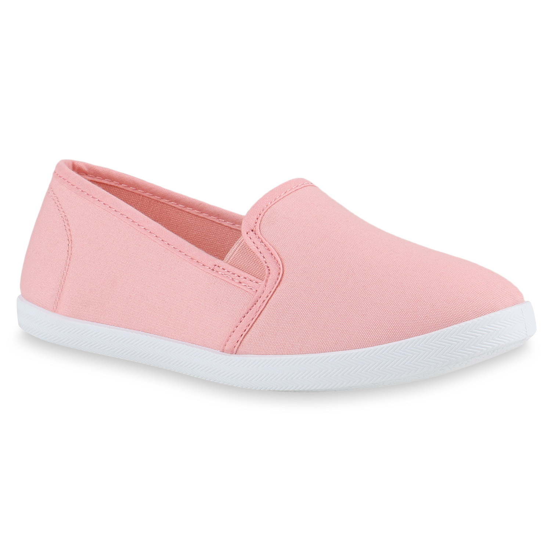 Damen Slippers Slip Ons - Rosa