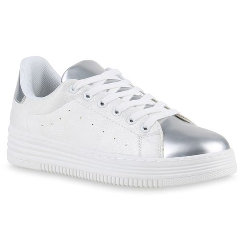 21bcffcc094eba Damen Sneaker in Silber Weiß (817153-1217) - stiefelparadies.de