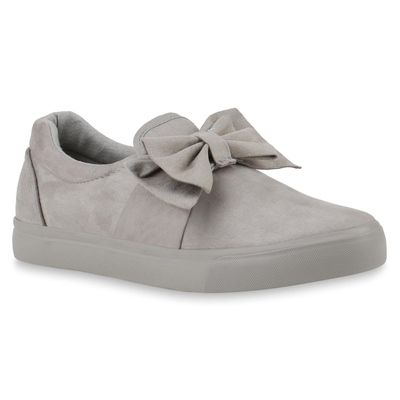 Damen Sneaker Slip Ons - Hellgrau