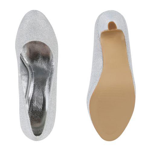 Damen Plateau Pumps - Silber