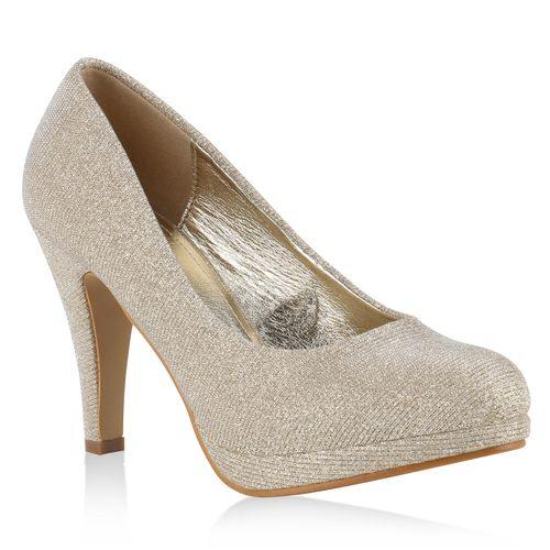 Damen Plateau Pumps - Gold