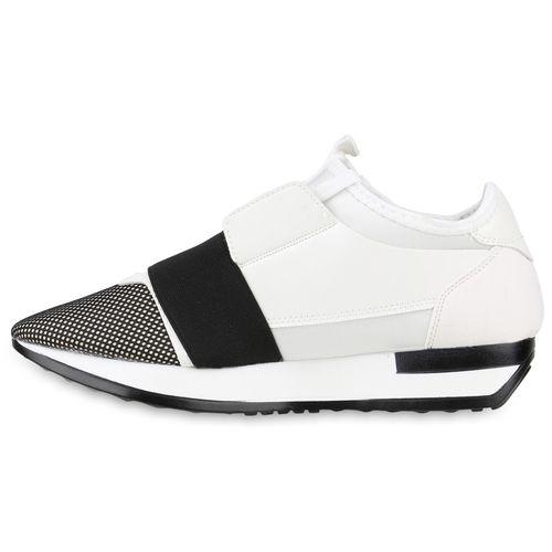 Damen Sportschuhe Laufschuhe - Weiß Schwarz