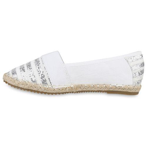 Damen Slippers Espadrilles - Weiß