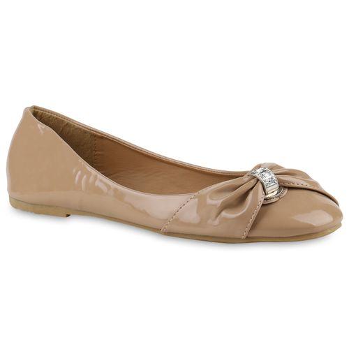Damen Klassische Ballerinas - Taupe