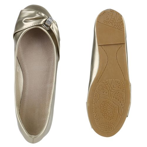 Damen Klassische Ballerinas - Gold