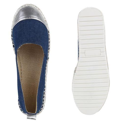 Damen Damen Blau Slippers Slippers Damen Espadrilles Espadrilles Slippers Slippers Blau Damen Blau Espadrilles r7rzXU6w