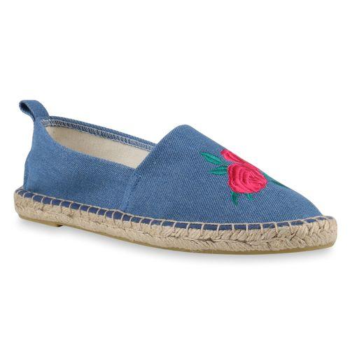 Slippers Blau Damen Espadrilles Damen Slippers HF0qYy