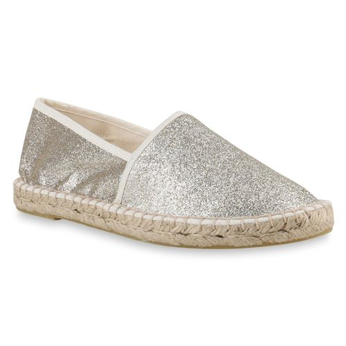 Espadrilles Damen Gold Slippers Damen Espadrilles Slippers Damen Espadrilles Gold Slippers Gold Damen Slippers Gold Espadrilles IOx8If