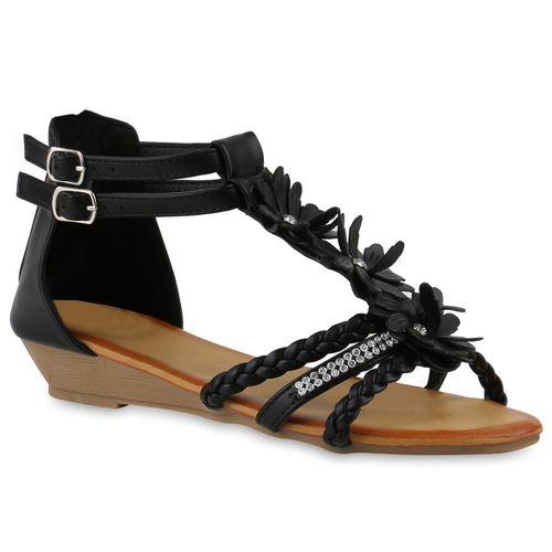 Damen Sandaletten Schwarz Sandaletten Damen Schwarz Keilsandaletten Keilsandaletten qtP8Bxa