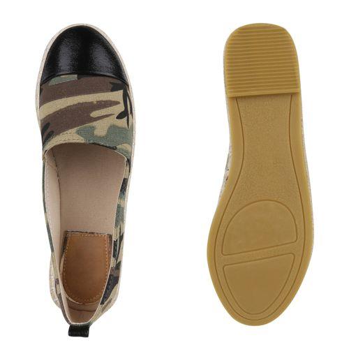 Billig Damen Schuhe Damen Slippers in Camouflage 8175681351