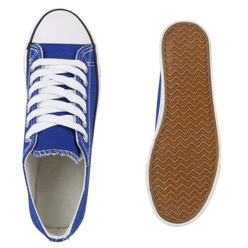 Damen Plateau Plateau Sneaker Blau Damen pwqpxrg