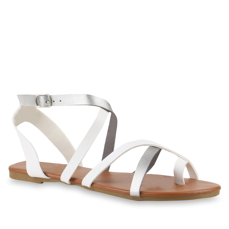 damen sandalen in wei silber 817672 2292. Black Bedroom Furniture Sets. Home Design Ideas