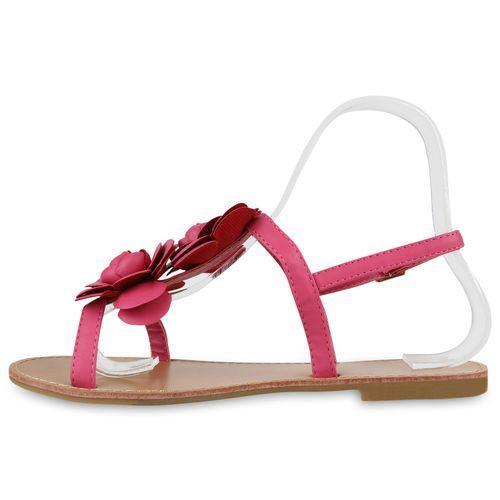 Damen Sandalen Riemchensandalen - Pink